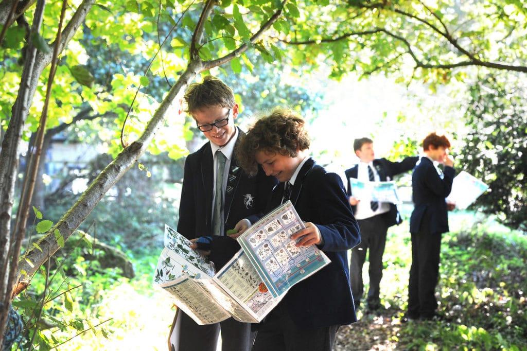 Abingdon Prep pupils outside