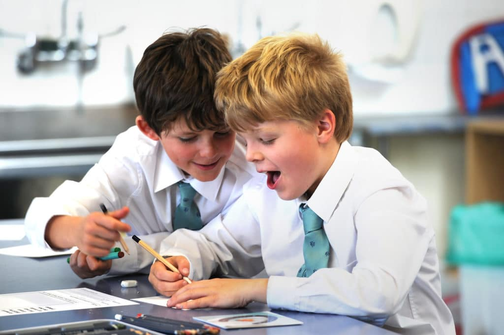 Abingdon Prep pupils in lesson