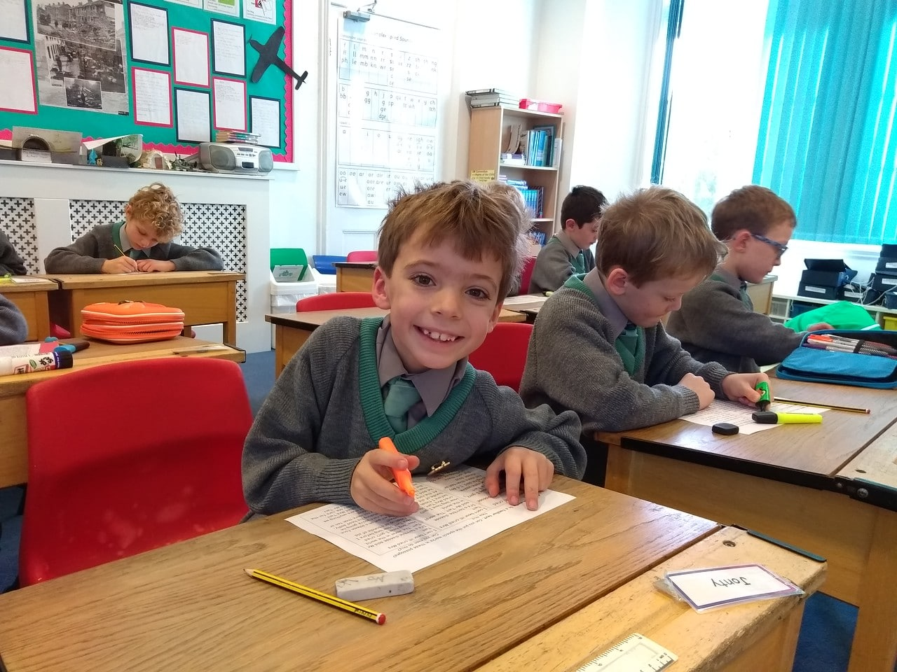 Abingdon Prep English lesson