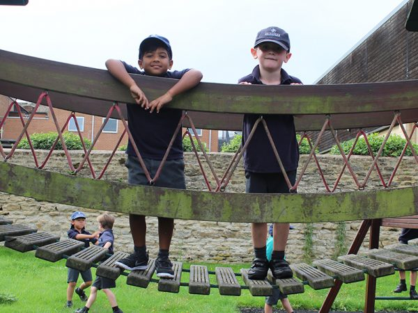 Abingdon Prep children playing outdoors