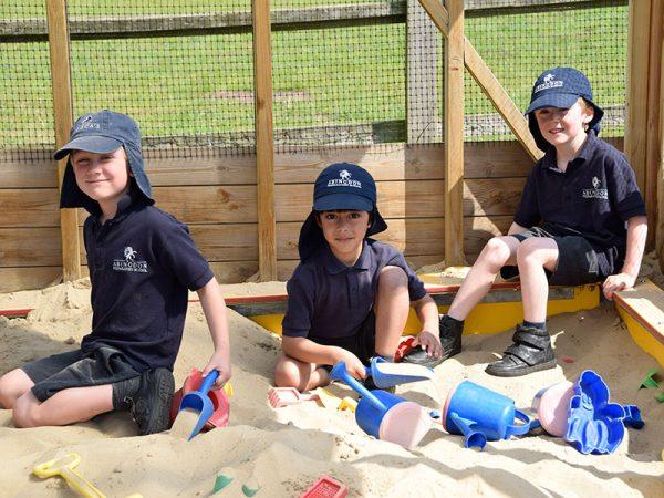 Abingdon Prep pupils playing outside