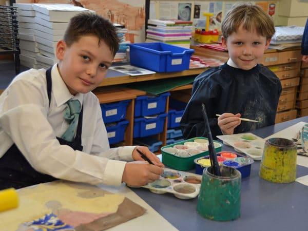 Abingdon Prep art lesson