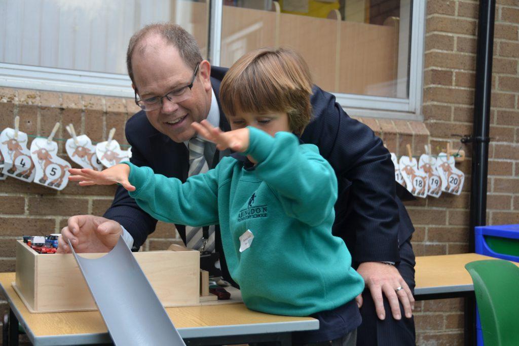 Abingdon Prep Headmaster in lesson