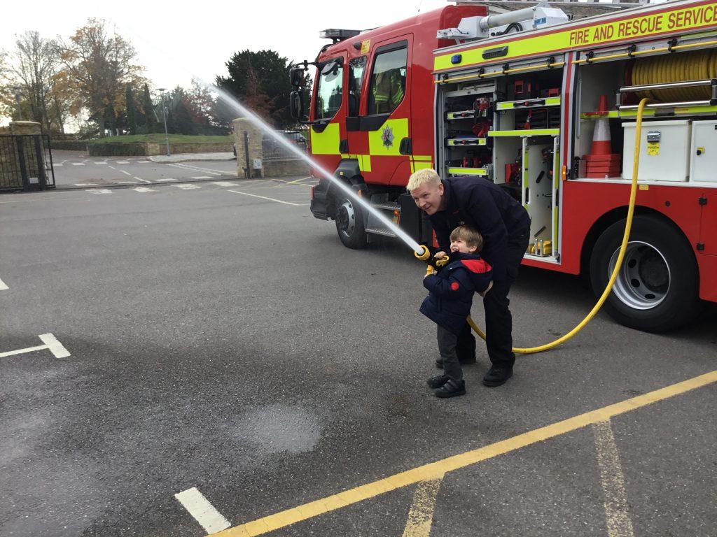 Abingdon Prep firemen visit