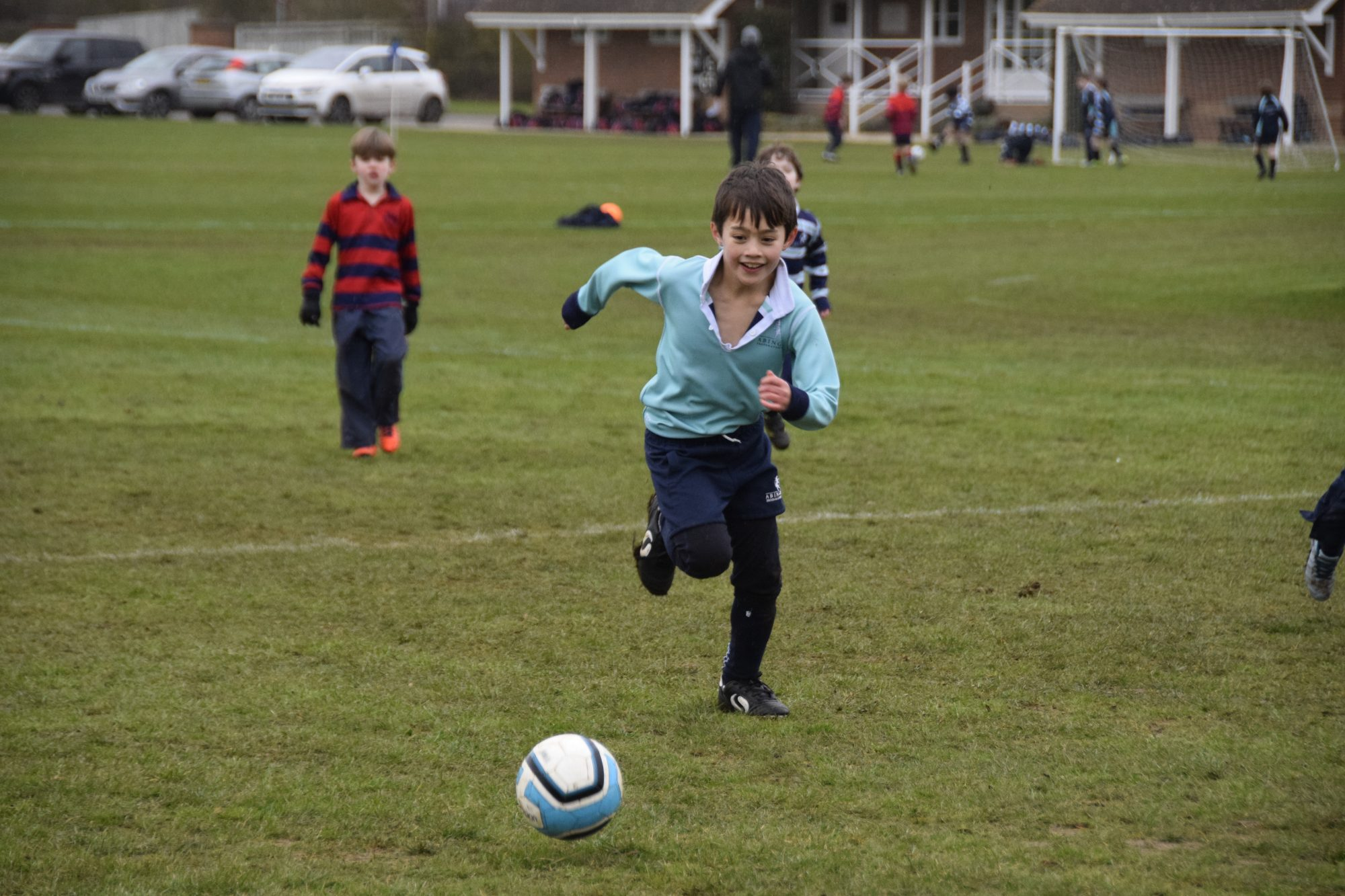 Abingdon Prep pupils playing football