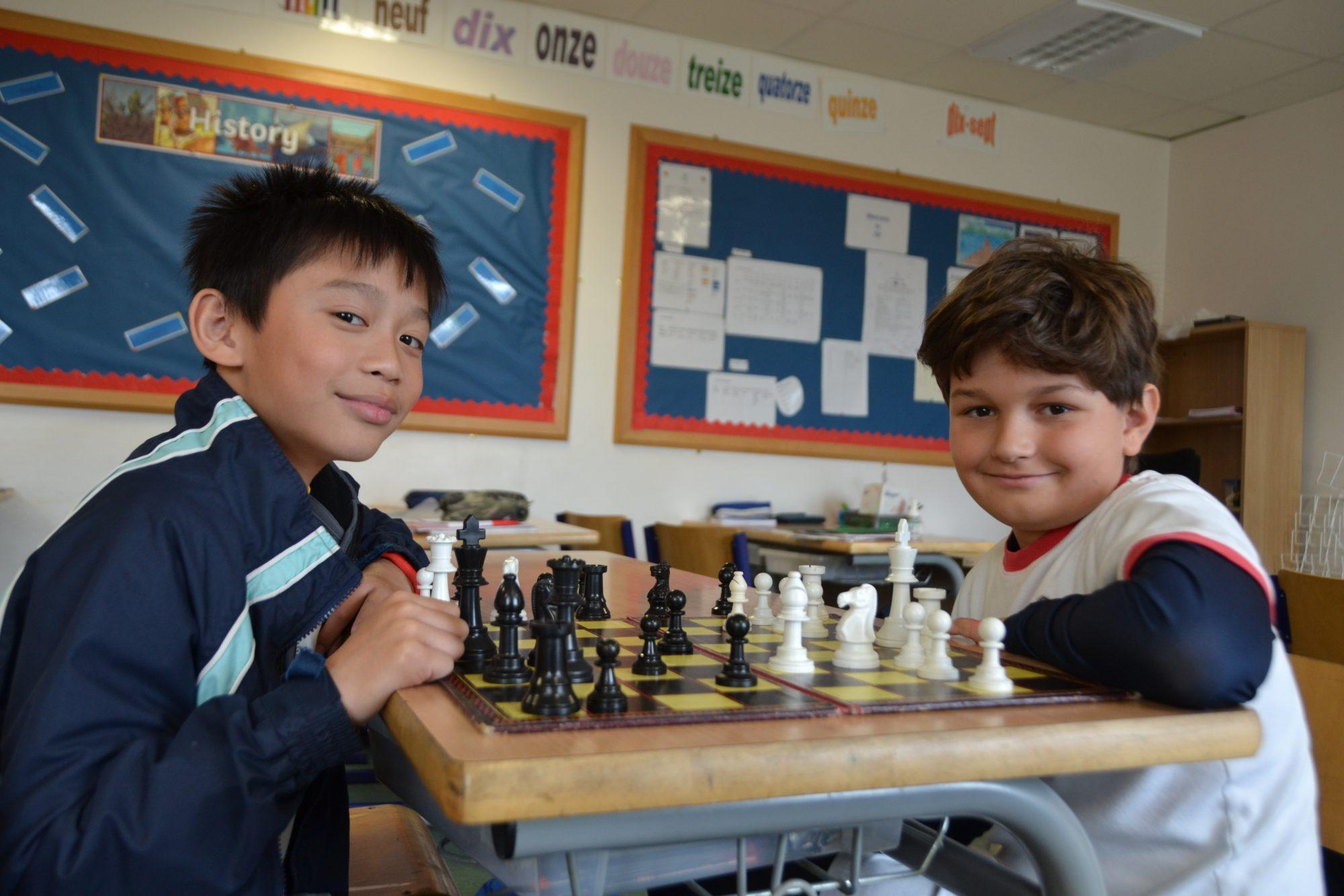 Abingdon Prep pupils playing chess
