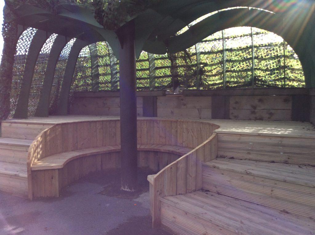 Abingdon Prep community bench/outside classroom