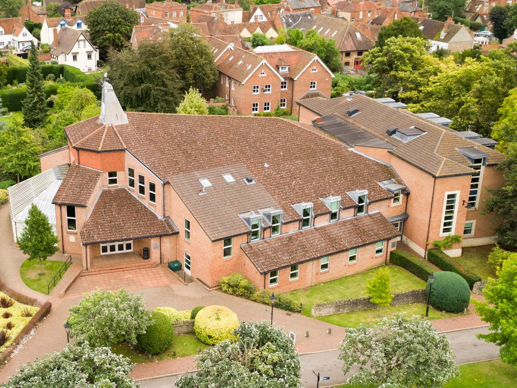 Aerial view of the Amey Theatre, located in Oxfordshire
