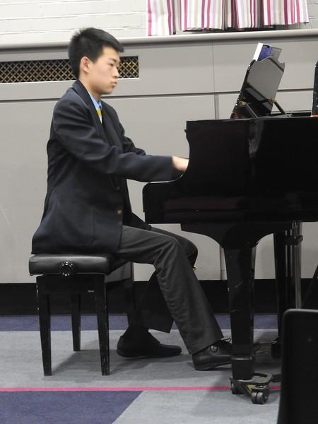 Abingdon pupil playing piano