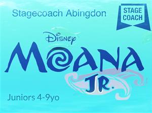 Moana Jr logo against blue background.