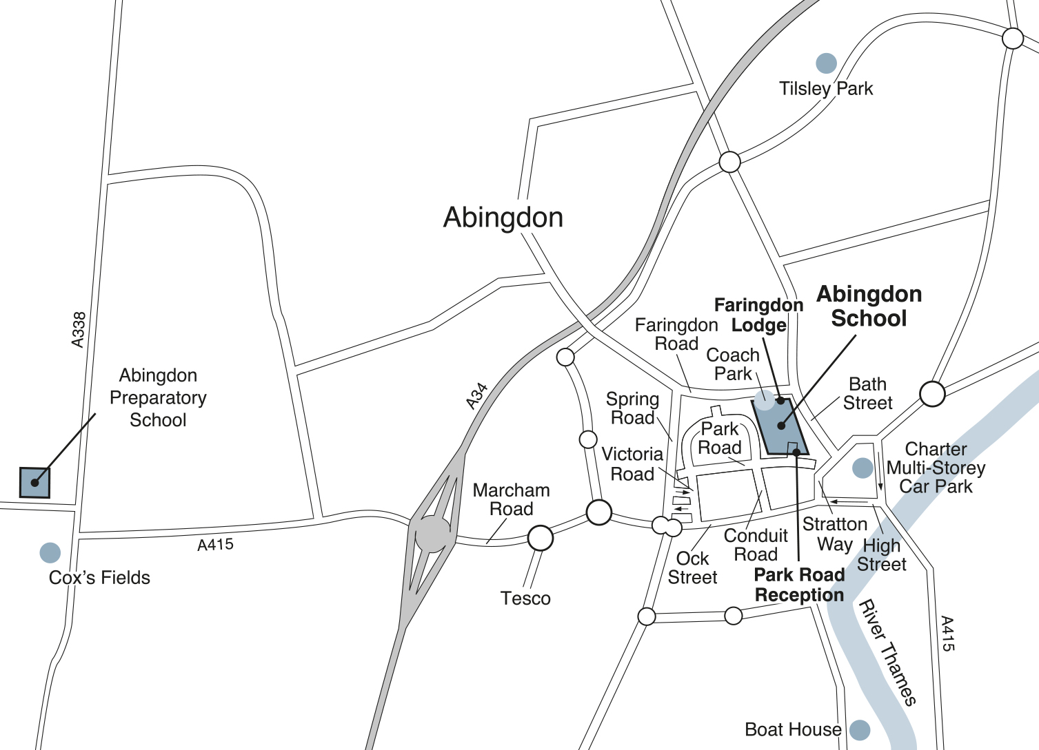 Area Map of Abingdon