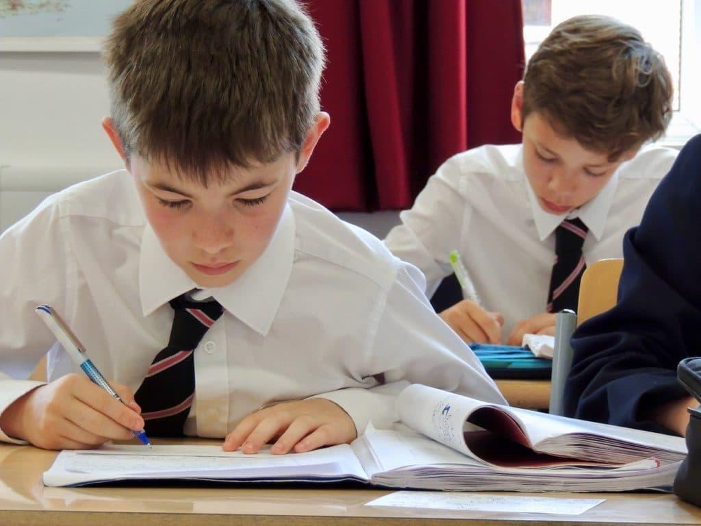 Abingdon School pupils in lesson