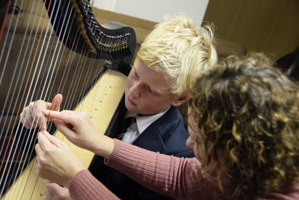 Abingdon School harp lesson