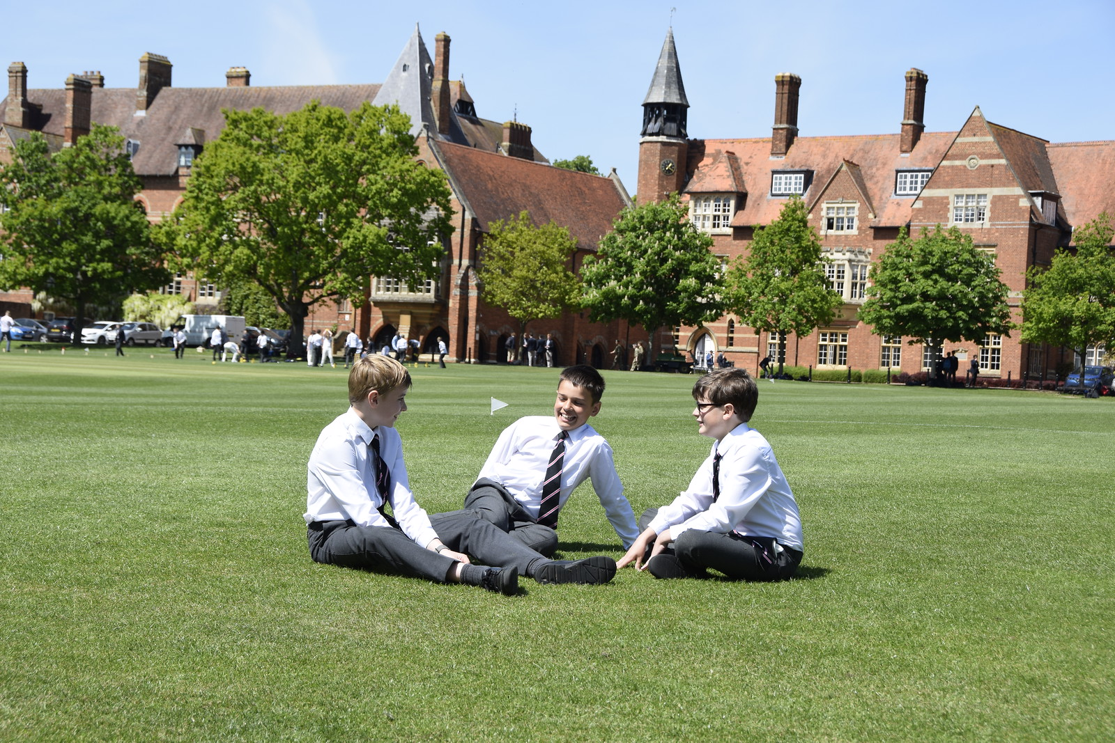 Abingdon School pupils socialising
