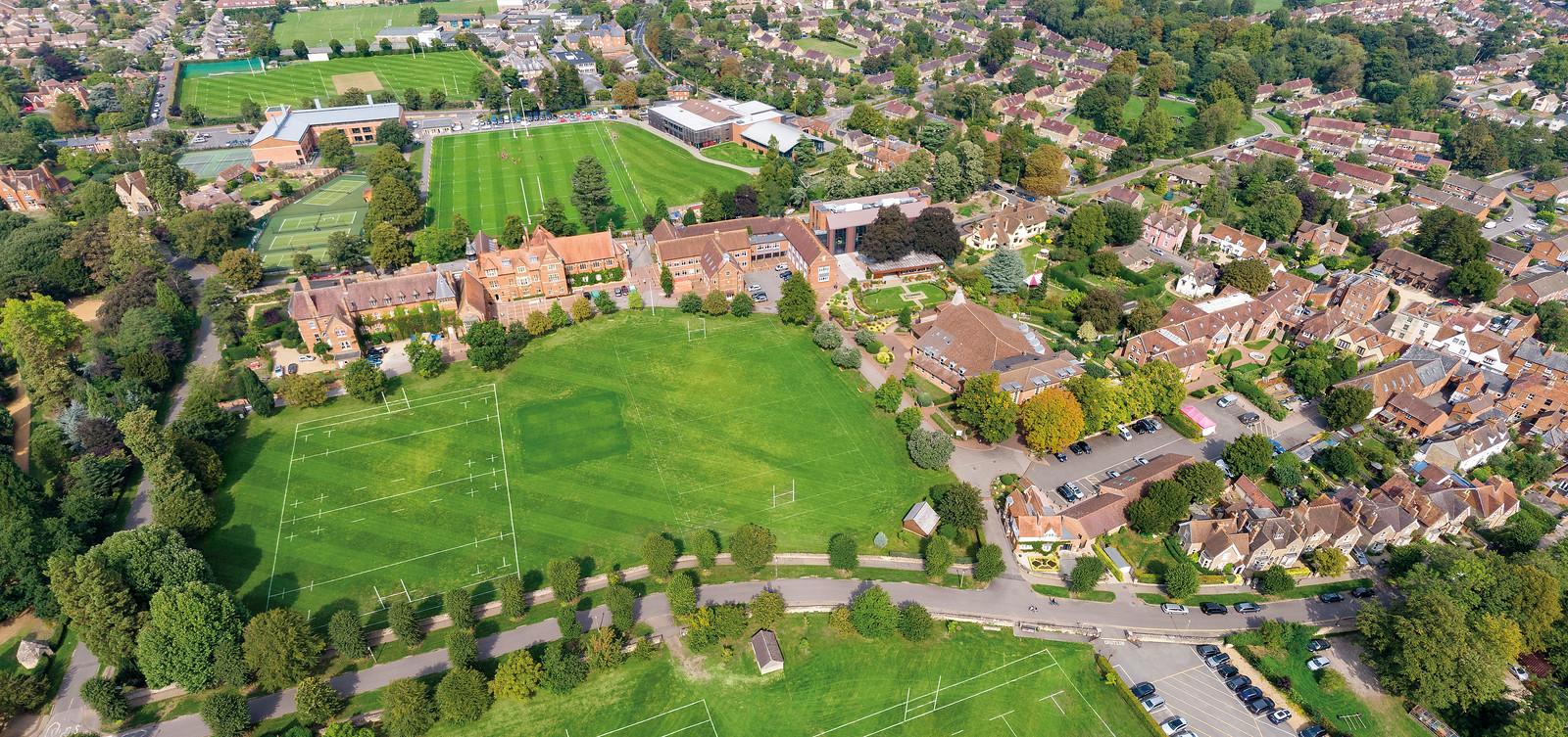 Abingdon School aerial photo