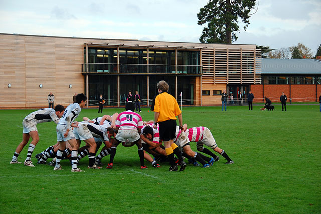 Abingdon School pupils playing rugby