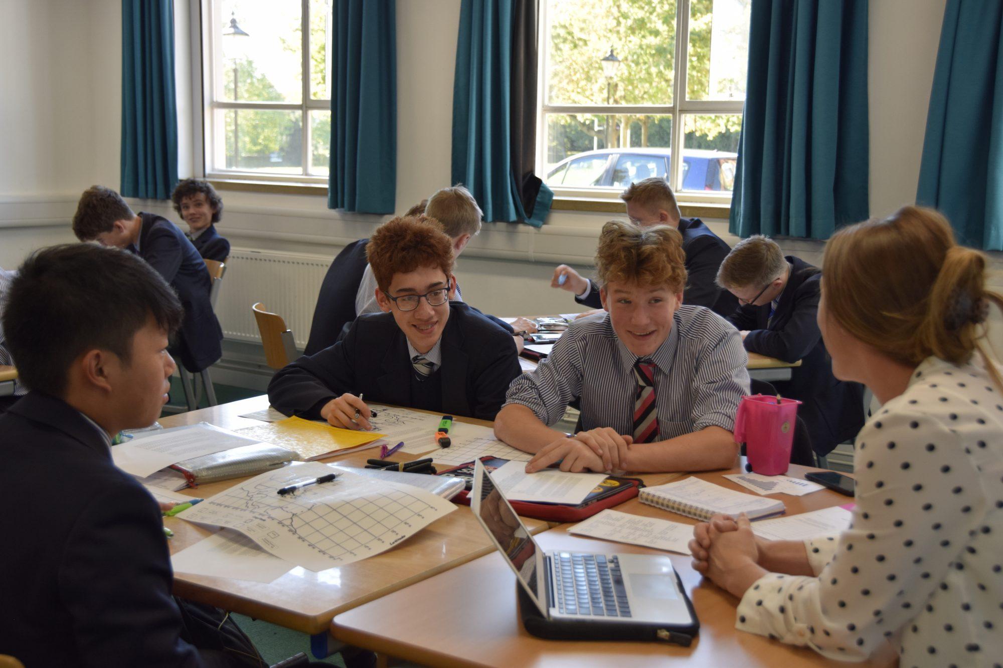 Abingdon School geography lesson