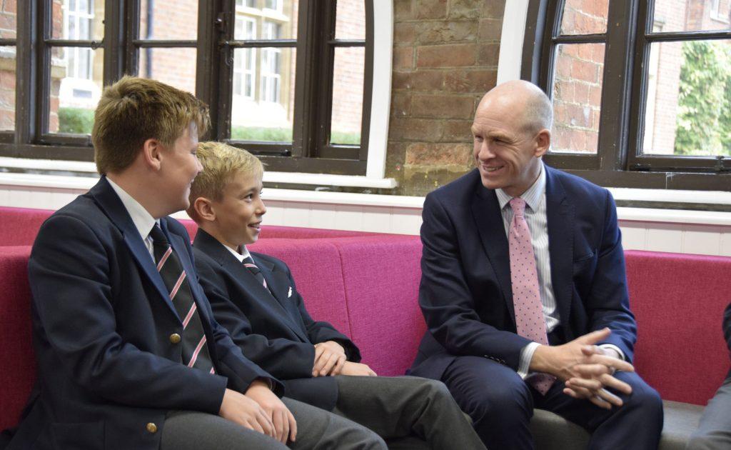 Abingdon School Headmaster talking to Lower School pupils