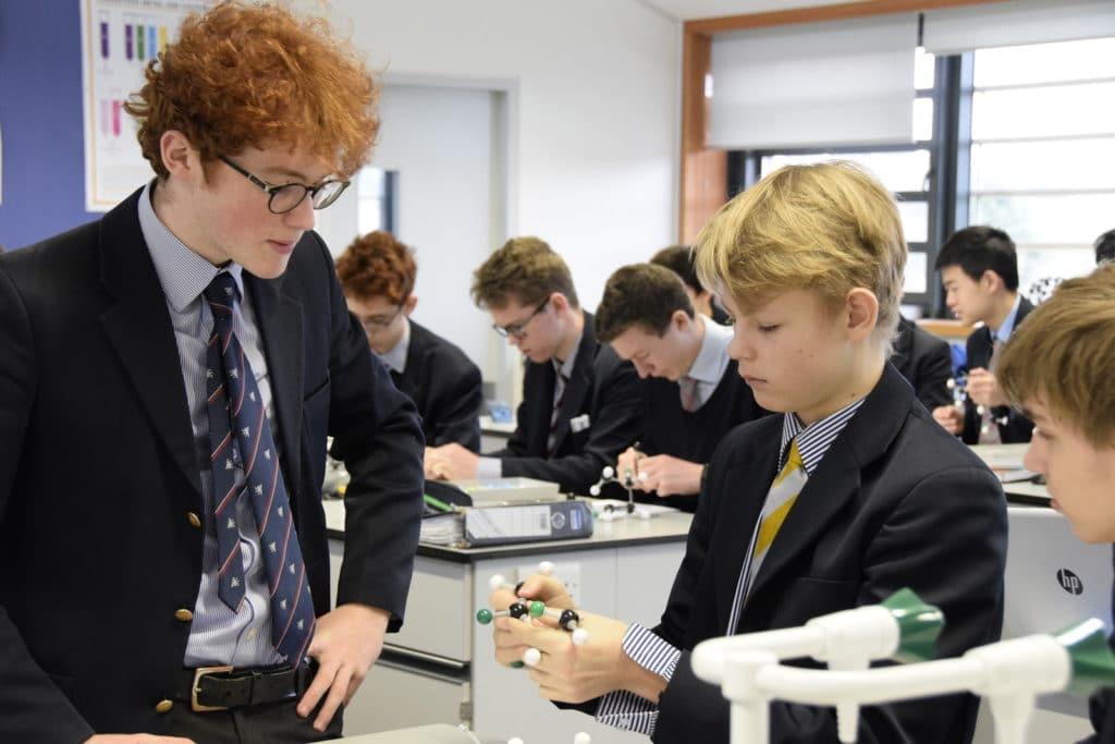 Abingdon School chemistry lesson