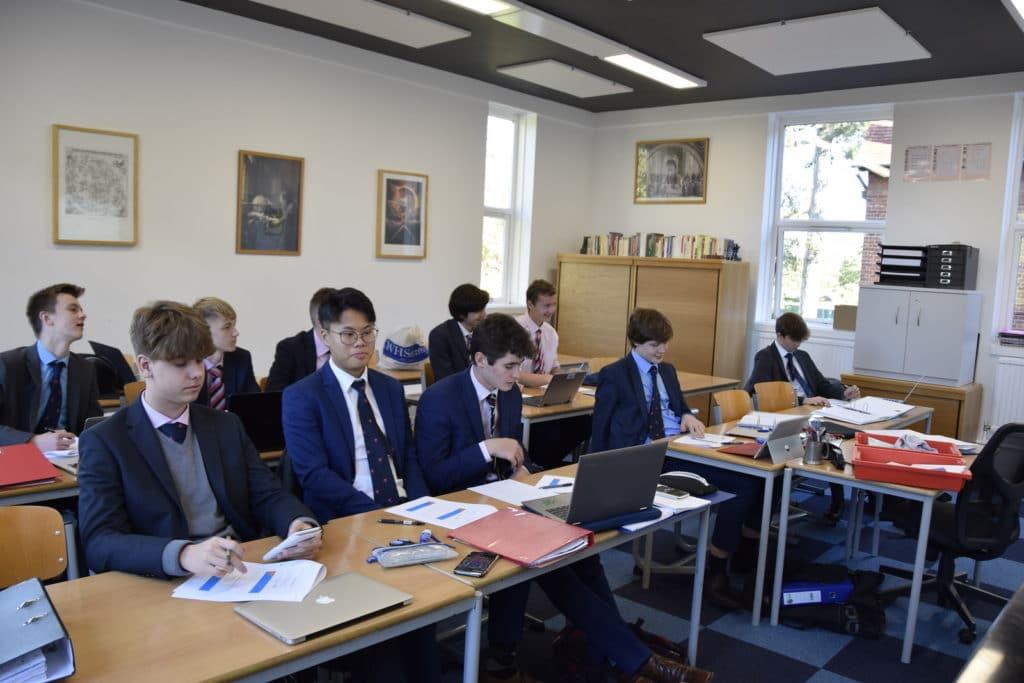 Abingdon School maths lesson
