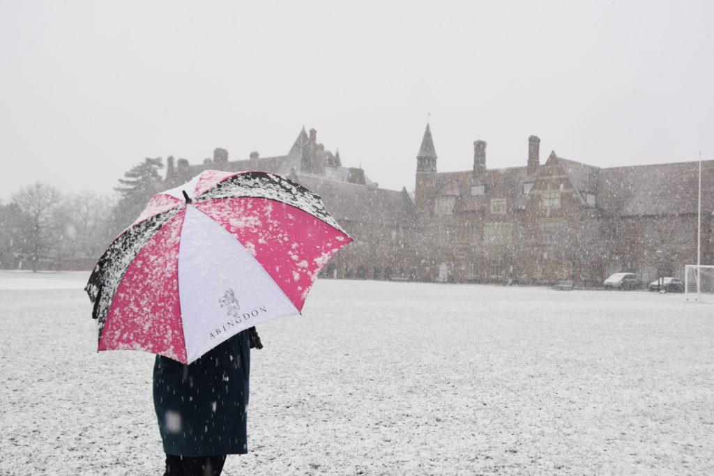 Abingdon School in the snow