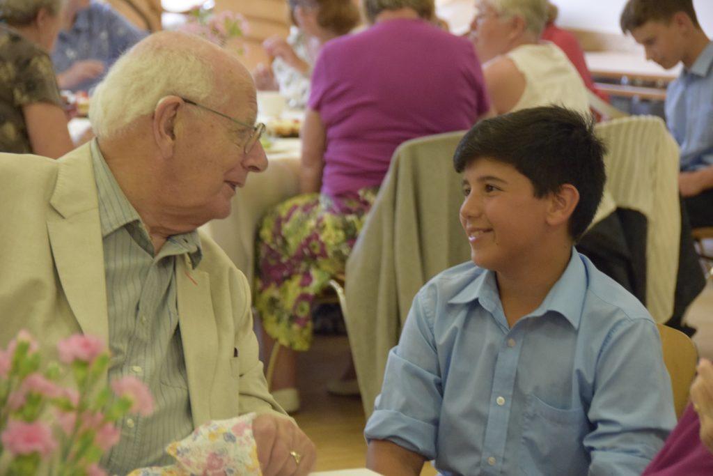 Abingdon School community service tea party
