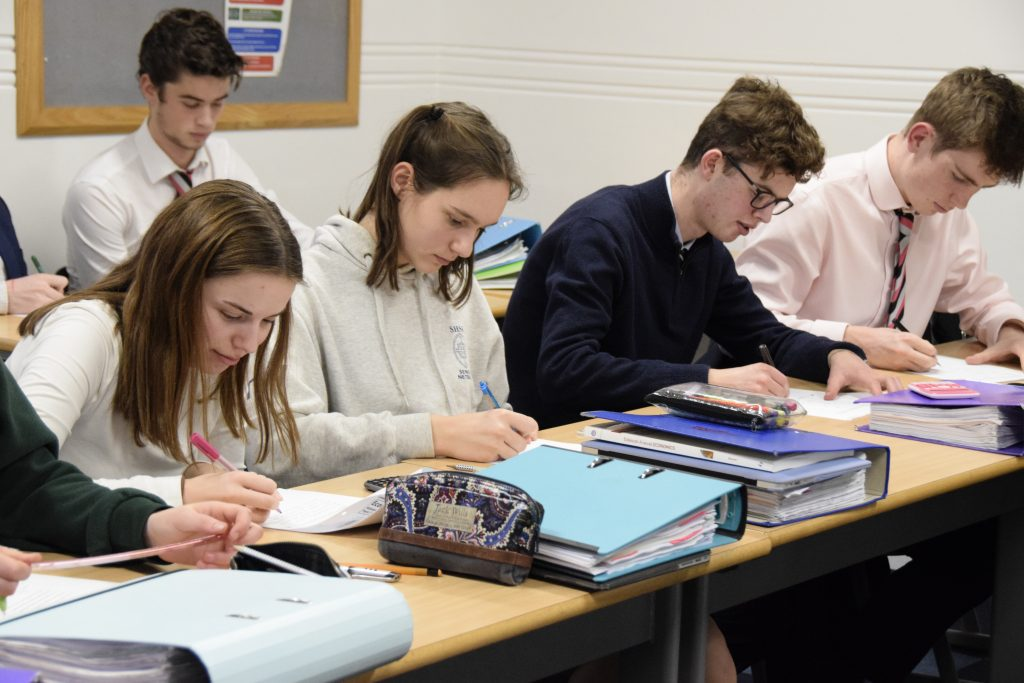 Abingdon School sixth form pupils in joint lesson