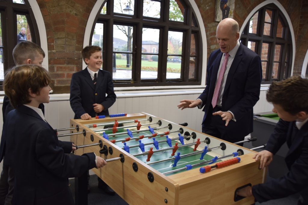 Abingdon School Headmaster and pupils