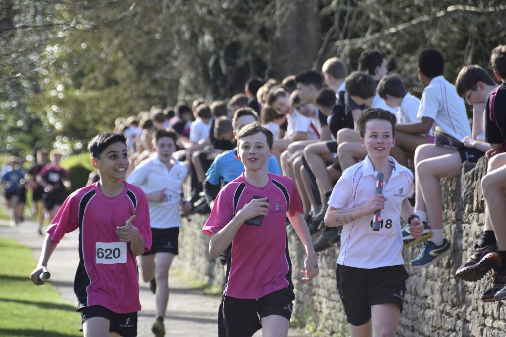 Abingdon School road relay event