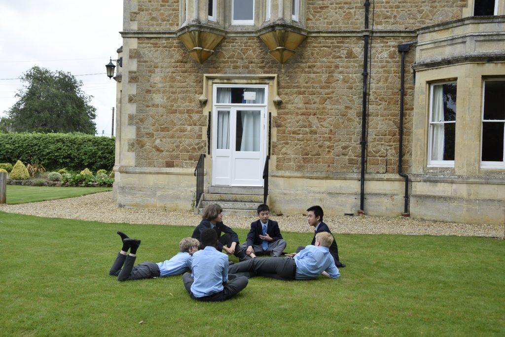 Abingdon School boarders socialising
