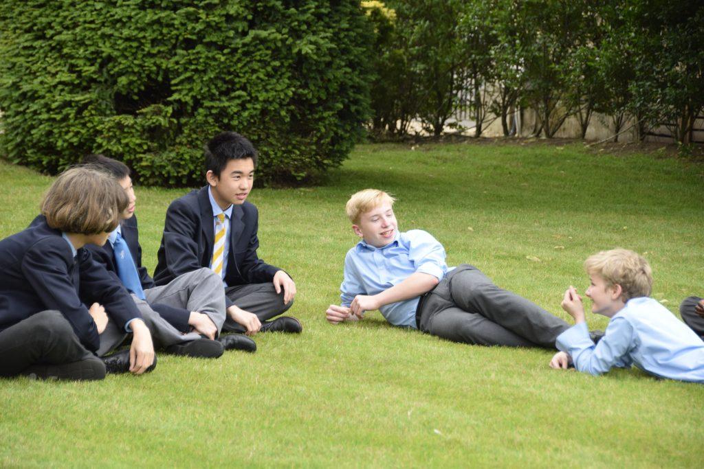 Abingdon School pupils relaxing