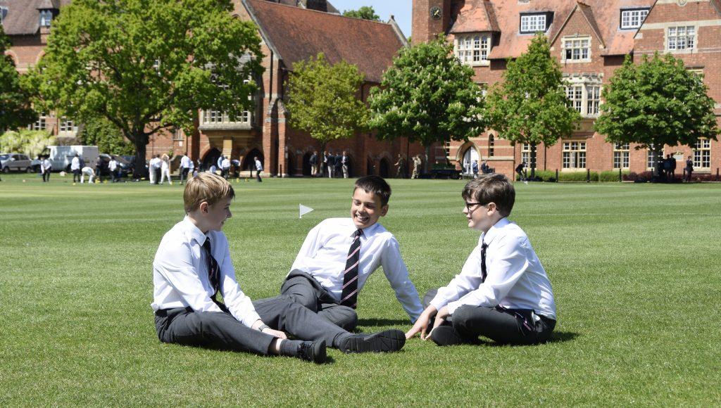 Abingdon School pupils outside