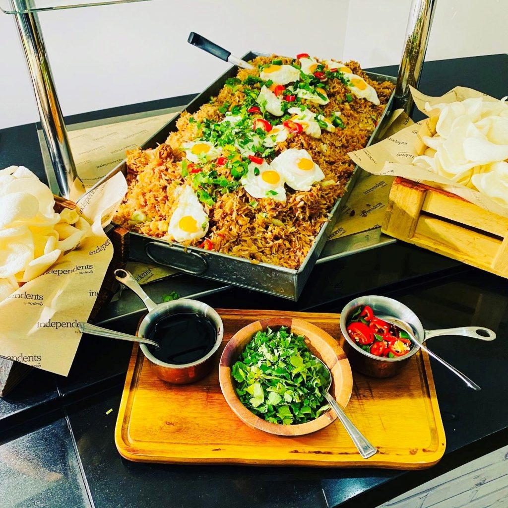 Abingdon School catering - beef nasi goreng