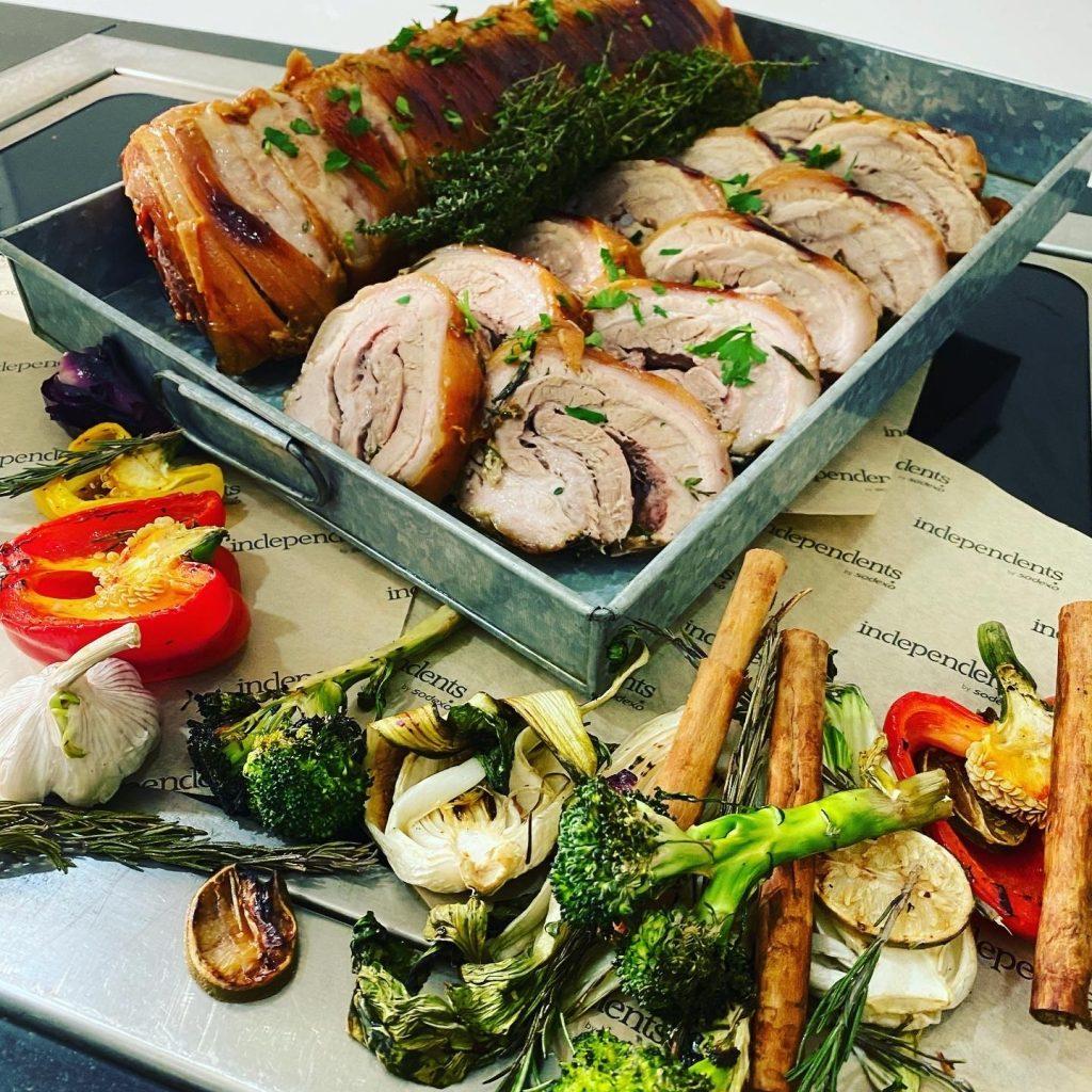 Abingdon School catering - braised pork belly