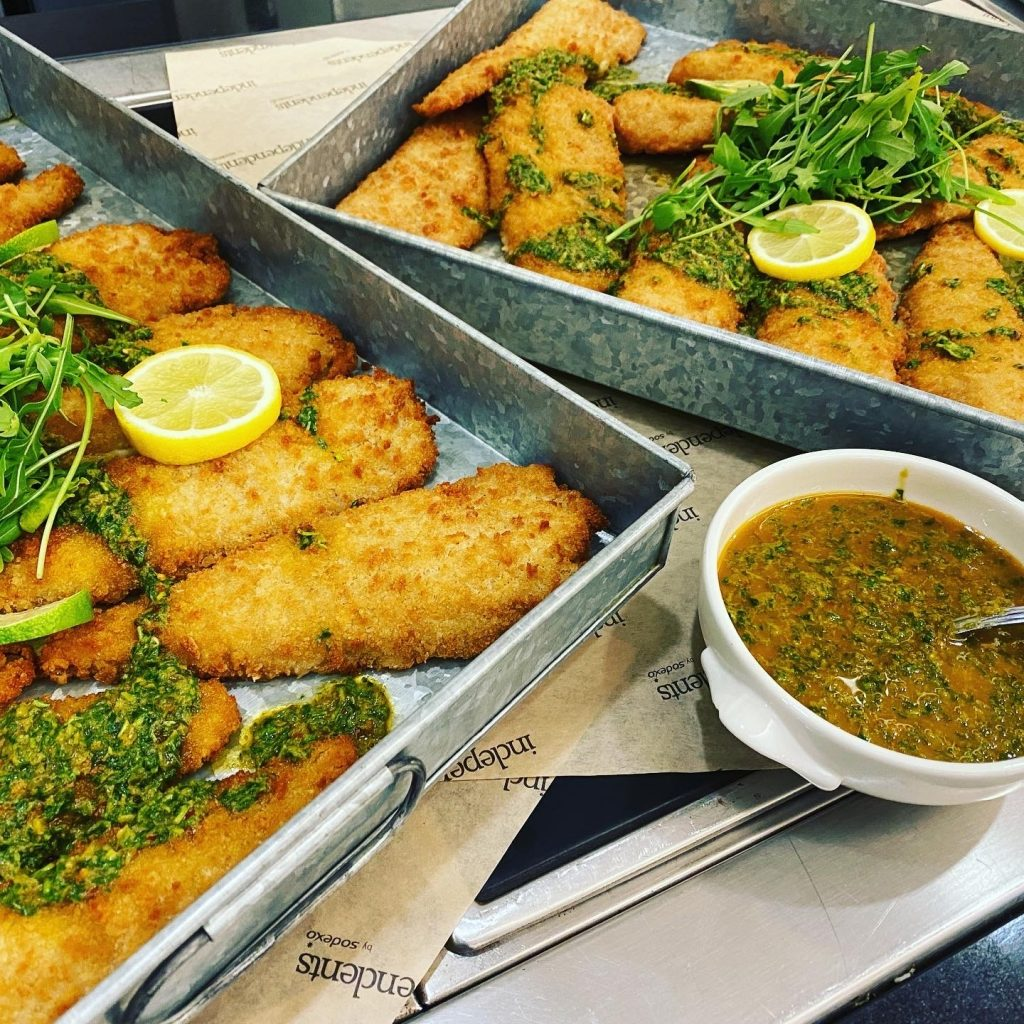Abingdon School catering - mexican pollack fillet