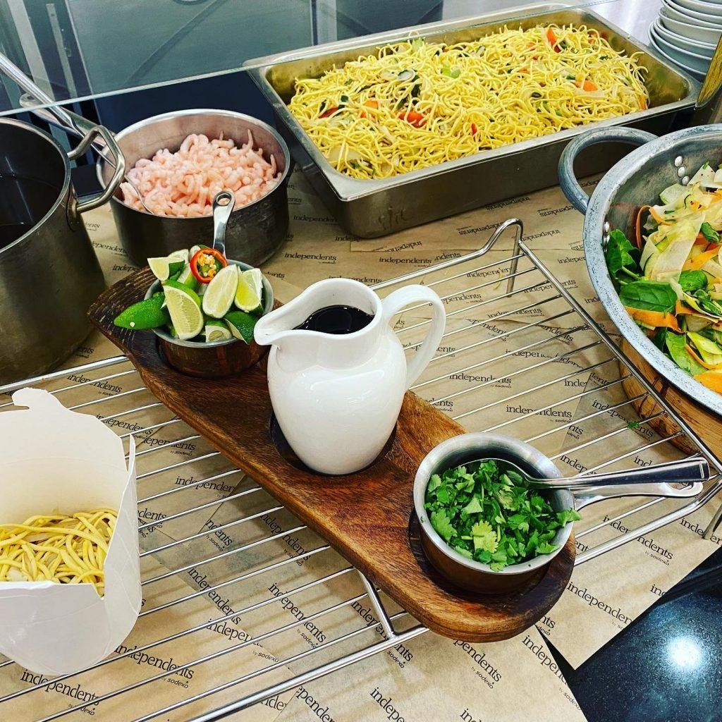 Abingdon School catering - prawn pot noodle