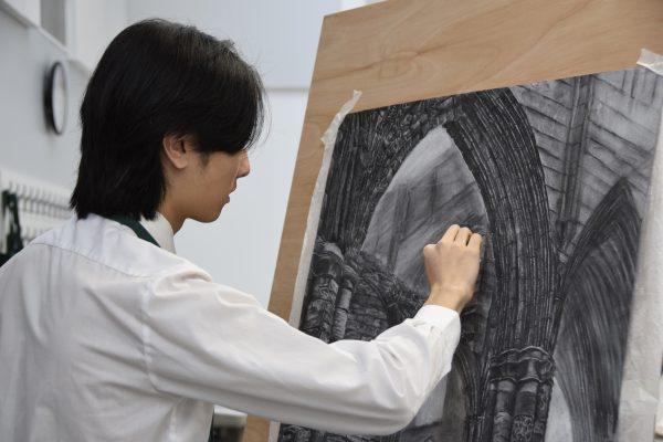 Abingdon School art lesson