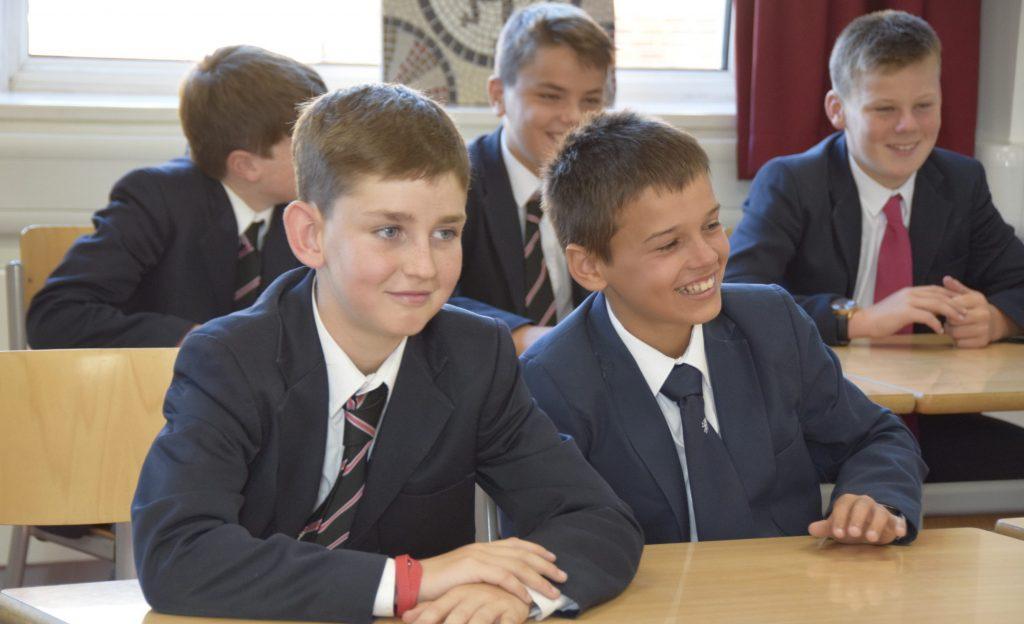 Abingdon School pupils in a classroom