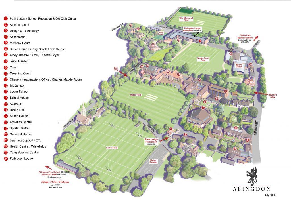 Abingdon School campus map